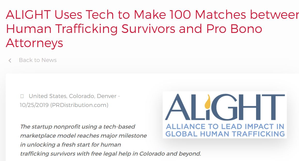 American Bar Association Endorses ALIGHT-style Technology Approach to Combat Human Trafficking